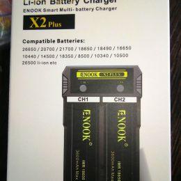 Зарядное устройство Enook X2 plus (2 слота/2 режима заряда)
