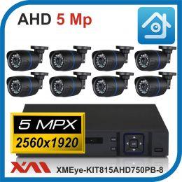 Комплект видеонаблюдения на 8 камер XMEye-KIT815AHD750PB-8.