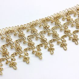 Тесьма металлизированная под золото, длина 10см, ширина 58см.