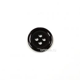 Пуговица классическая 12 мм, цв.: чёрный, арт. 1375709, шт.