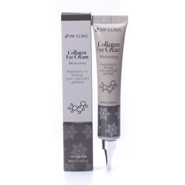 3W Clinic Collagen Eye Cream Whitening 40 g (в тюбе) Осветляющий крем для кожи вокруг глаз с морским коллагеном
