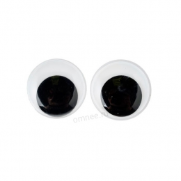 Глаза круглые с бегающим зрачком 10 мм, пара.