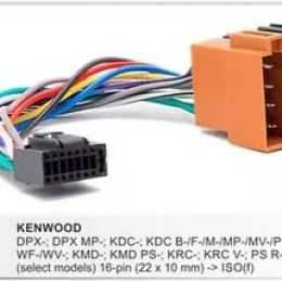 Разъемы магнитол Kenwood CARAV 15-103