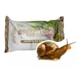 Rose Snail peeling soap, Мыло-пилинг с улиточным муцином, 150 гр