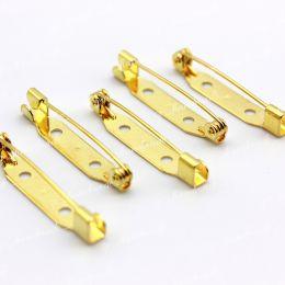 Основы для брошей стандартный замок золото 30 мм 1 шт (Япония)