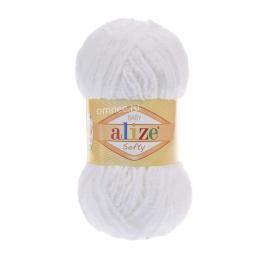 Alize Baby Softy цв.: 55 белый, микрополиэстер 100%, 50 гр. 115 м.