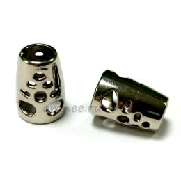 Наконечник металлический, 13/6/9 мм, цв.:никель
