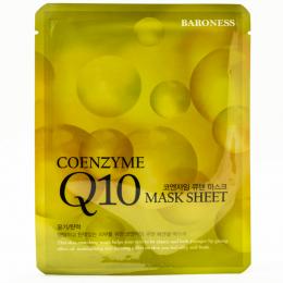 BARONESS Тканевая маска с концентрированным коэнзимом Airlaid Face Mask Q10