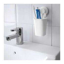 ТИСКЕН Держатель для зубных щеток, белый