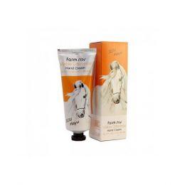 FarmStay Visible Difference Hand Cream Jeju Mayu 100ml Увлажняющий, питающий крем для рук на экстракте жира лошади