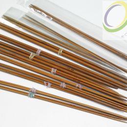 Прямые бамбуковые обоюдоострые спицы (пара), 25 см, № 3,25