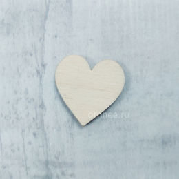 Сердце деревянное 2,5 см, шт
