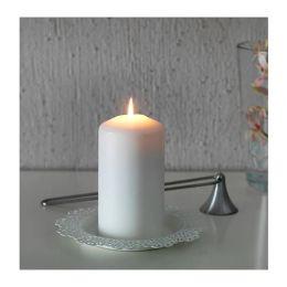 СКУРАР Тарелка для свечи, белый 18 см