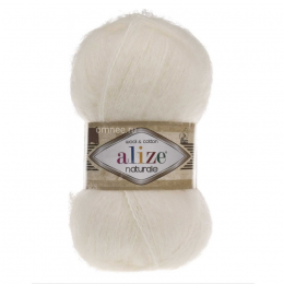 Alize Naturale 62 (св.молочный) 60% шерсть, 40% хлопок, 100 гр. 230 м.