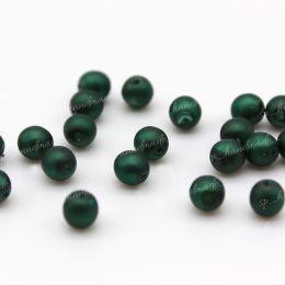 Жемчуг матовый темно-зеленый 4 мм 20 шт (Чехия)