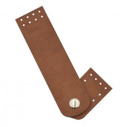 Застёжка для сумки, цв.: фундук, иск.кожа