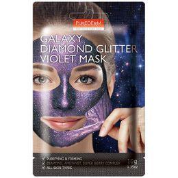 Purederm Очищающая и укрепляющая маска (фиолетовая) Galaxy Diamond Glitter Violet Mask