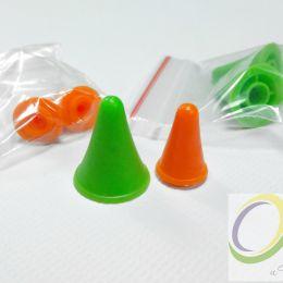 Наконечник для спиц (резиновый) для спиц 2-3,5 мм, оранжевый.