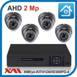 Комплект видеонаблюдения на 4 камеры XMEye-KIT412AHD300PG-4.