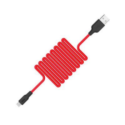 Кабель Hoco X21 USB - Type-C 2A красный, особо прочный