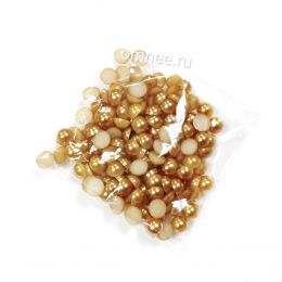 Полубусины , цв.: старое золото, 6 мм, уп. 10 гр.