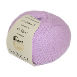 Gazzal baby wool 823 (нежная роза), мериносовая шерсть 40%, кашемир 20%, акрил 40%, 50 гр.175 м.