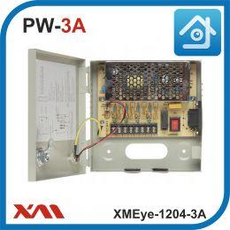 XMEye-1204-3A(Металл/Ящик). 4 Выхода, 12 Вольт, 3 Ампера. Блок питания для видеонаблюдения.