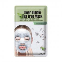 LABUTE Clear Bubble Tea Tree Mask Кислородная маска с чайным деревом