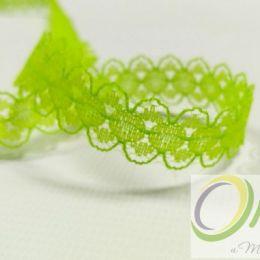 Кружево капрон, цв. Зеленый, ширина 15 мм