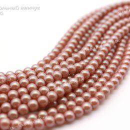 Хрустальный жемчуг Preciosa 4 мм Pearlescent Pink 20 шт