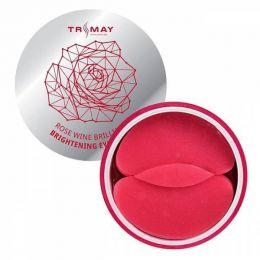 Trimay Rose Wine Brilliant Brightening Eye Patch 60 шт/Осветляющие патчи д.век с экстрактом розы и вина