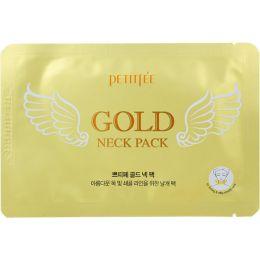 Гидрогелевые патчи с золотом для области шеи Petitfee gold neck pack