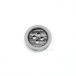 Пуговица 15 мм, цв.: серый, шт.