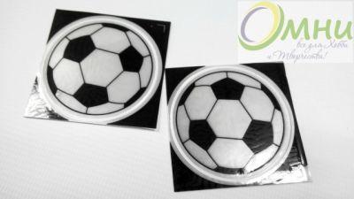 Световозвращающие наклейки (мячь), 5х5 см, шт.
