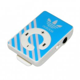 MP3 плеер ADIDAS (слот Micro SD+наушники+кабель для зарядки) blue