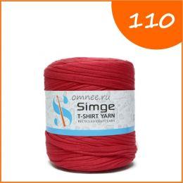 Трикотажная пряжа Simge, цв.: 110 сигнально - красный