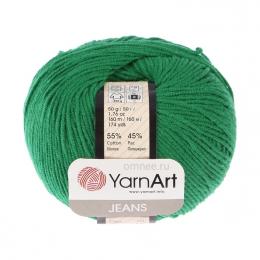 YarnArt Jeans 52 (ярко-зелёный), 55%хлопок, 45% акрил, 50 гр.160 м