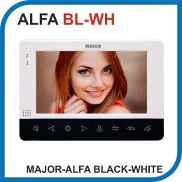 MAJOR ALFA BLACK-WHITE. Видеодомофон 7 дюймов. 2 панели - 2 аудио трубки.