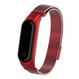 Ремешок MI Band 3/4 milanes с магнитом, red