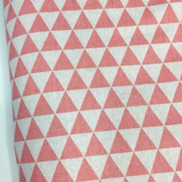 Лен декоративный треугольники розовые