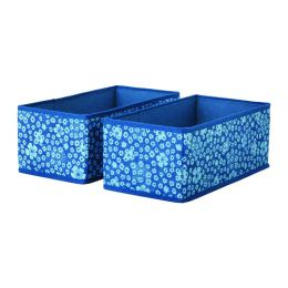 СТОРСТАББЕ Коробка, синий, белый, 20 x 37 x 15 см, 2 шт