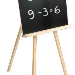 Доска для мела ПИФАГОР на треноге, 42х45 см, с мелком и губкой, черная, Россия, 235499