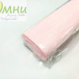 Крепированная бумага, цв.: св.розовый 02, Китай, 2,5 м х 50 см