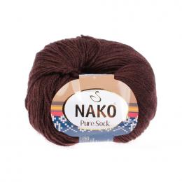 Nako Pure Sock, цв.: 282 (коричневый), шерсть тонкорунная 70%, полиамид 30% , 50 гр. 200 м.