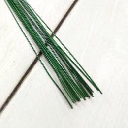 Проволока д/флористики d-0,6мм, 40 см, уп. 20 шт.,зеленая