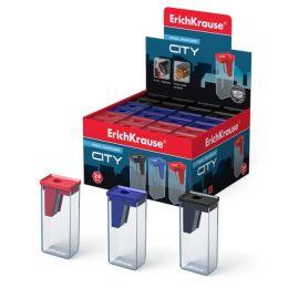 Точилка пластиковая ErichKrause City с контейнером 21830