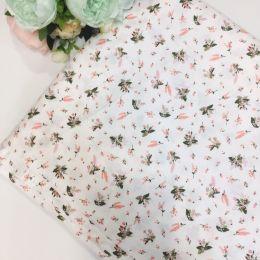 Цветочки мелкие розов. на белом