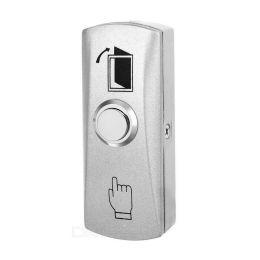XMEye-EXIT-H8. Серый. Подсветка зеленая. Кнопка выхода металлическая, накладная, НР.