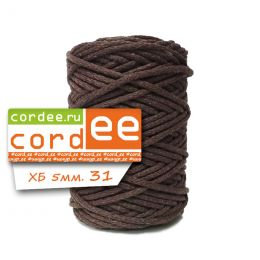 Шнур Cordee, ХБ5 мм, цв.:31 коричневый