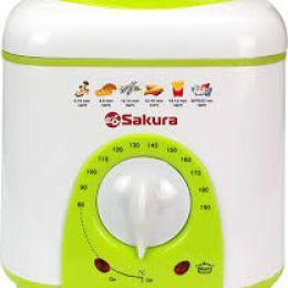 Фритюрница Sakura SA-7654GR, 1 л, 950 Вт, антипригарное покрытие, фильтр